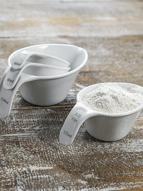Rialto Porcelain Measuring Cup Set of 4 - Garden Trading