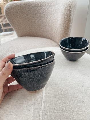 Speckled Stoneware Serving Bowl Set of 2 BLACK/BROWN - Sagaform