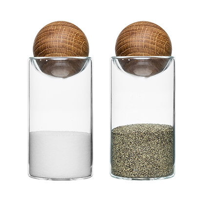 Salt & Pepper 2-pack with Oak Stoppers - Sagaform