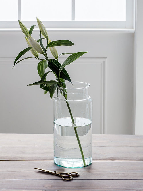 Tall Vase Crafted From 100% Recycled Glass