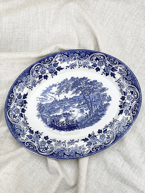 "Broadhurst Ironstone 'The English Scene' 12"" Serving Plate"