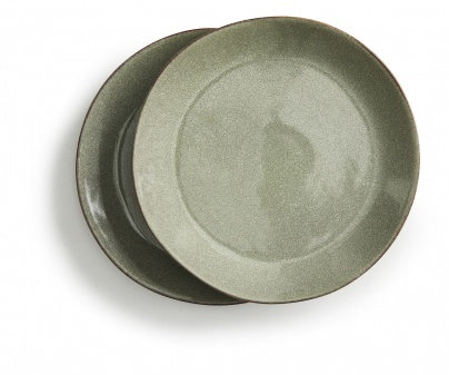 Stoneware Green Serving plate (2 Pack) - Sagaform