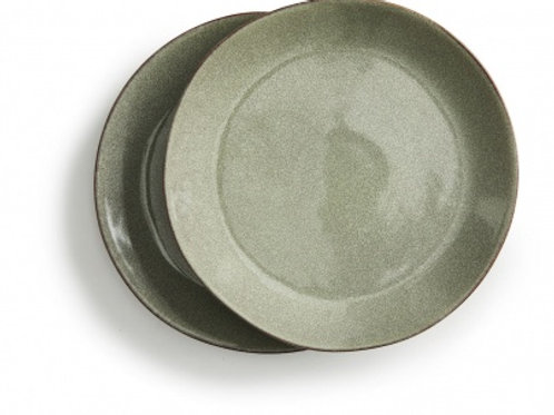 Stoneware Green Serving plate (2 Pack) - Sagaform