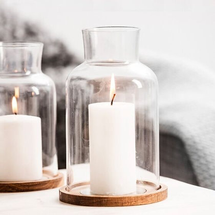 Oak Lantern Candle Holder Set - Sagaform
