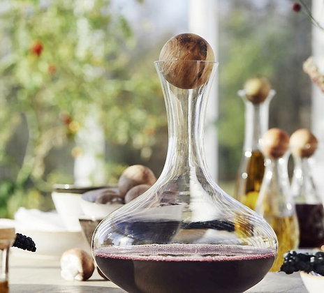 Wine Carafe with Oak Stopper - Sagaform