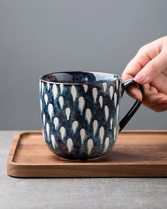 Stoneware. Blue Speckle Mug - 350ml