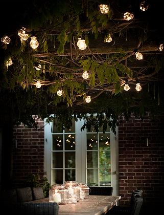 Oak N Smoke Black Festoon 20 Bulb Lights