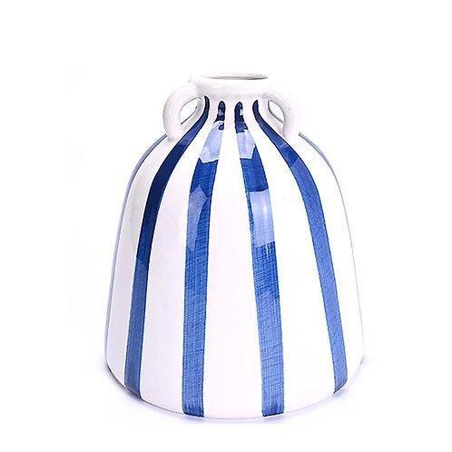 Ceramic Blue Stripe Vase