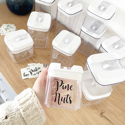 SINGLE Labelled Airtight Food Storage Containers