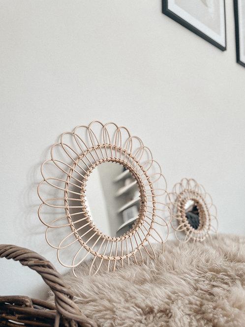 Rattan Flower Mirror - 2 Sizes