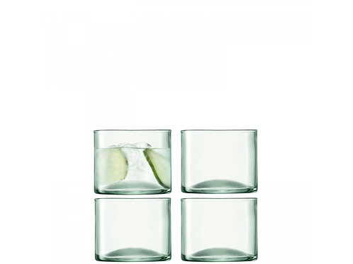 Set of 4 Canopy Low Tumblers Crafted in 100% Recycled Glass