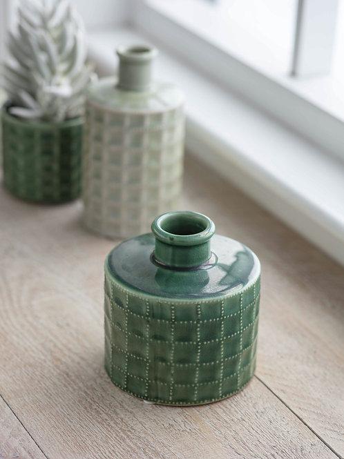 Ceramic Sorrento Foliage Green Bottle