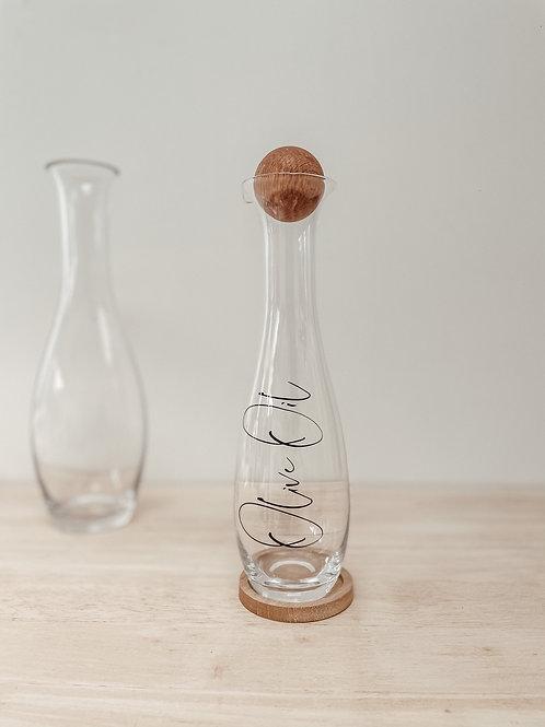 Oil / Vinegar Bottle with Oak Stopper - Sagaform