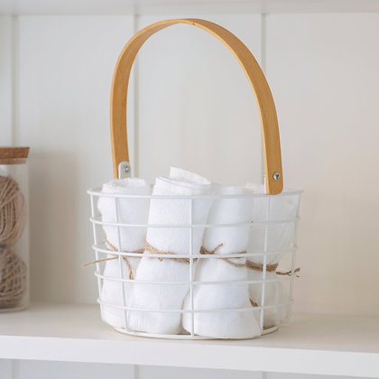 Utility Basket with Bamboo Handle - Garden Trading