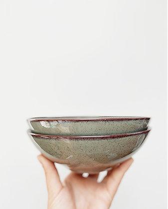 Stoneware Green Deep Bowl (2 Pack) - Sagaform