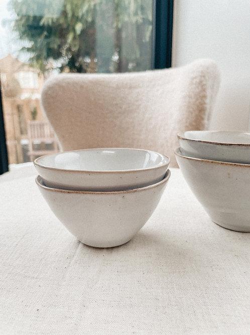 Speckled Stoneware Serving Bowl Set of 2 WHITE - Sagaform