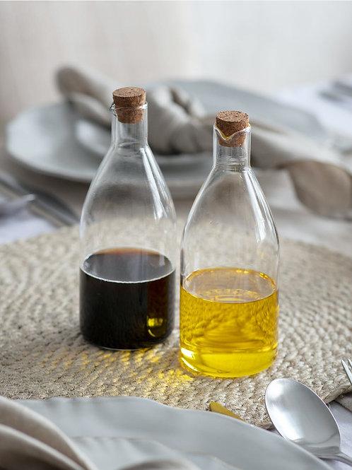 Glass Oil & Vinegar Bottle Set