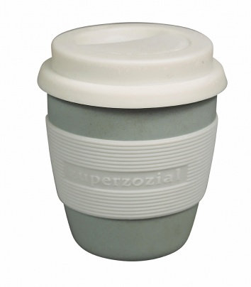 Zuperzozial Blue Biodegradable Bamboo & Corn Mini Travel Mug