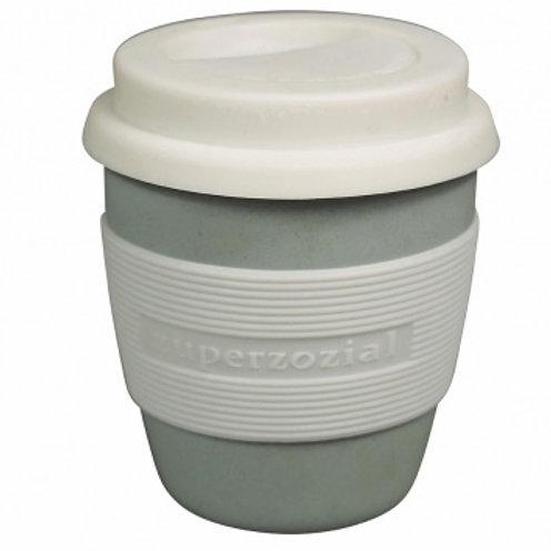 Zuperzozial Blue Biodegradable Bamboo & Corn Mini Travel Mug