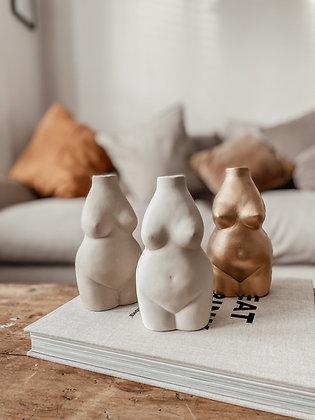 Female Body Ceramic Vase