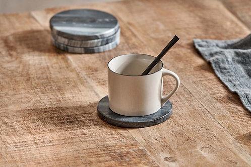 Esa Solid Marble Coasters (Set of4) 11cm - Nkuku