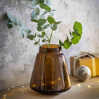 Stanway Amber Glass Vase