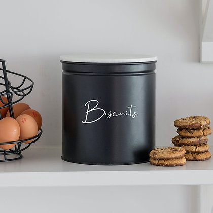 RYLE Palmers Steel & Solid Marble Biscuit Tin