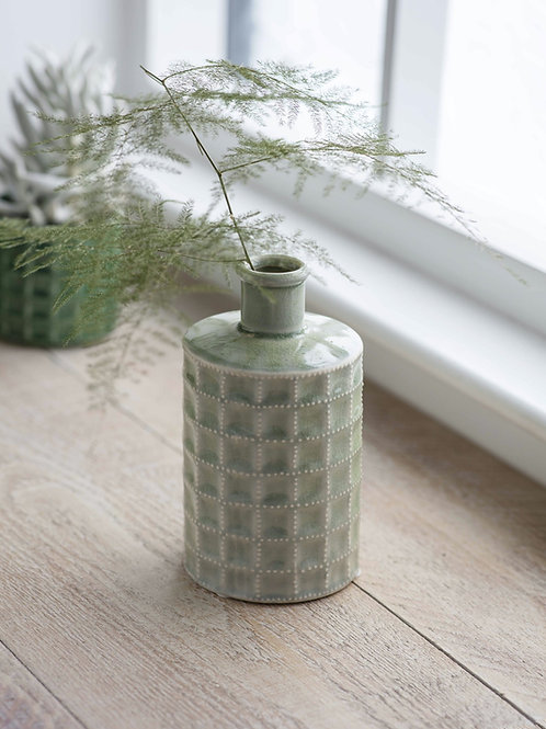 Ceramic Sorrento Sage Green Bottle (Large)