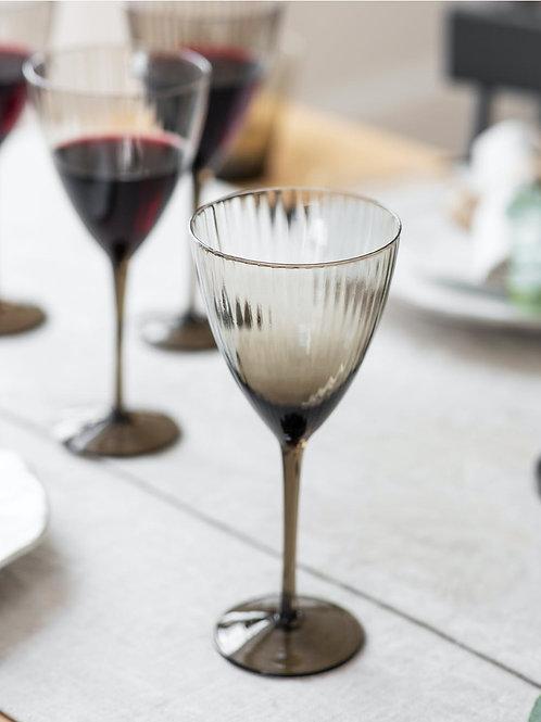 Smoke Glass Set of 4 Wine Glasses