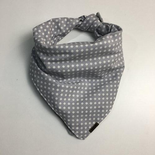 Pañuelo de abrigo - Gris lunares
