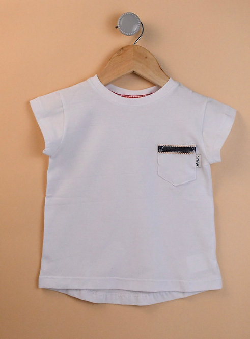 Remera - Blanca c/bolsillo