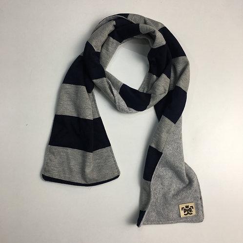 Foulard - rayas azul/gris