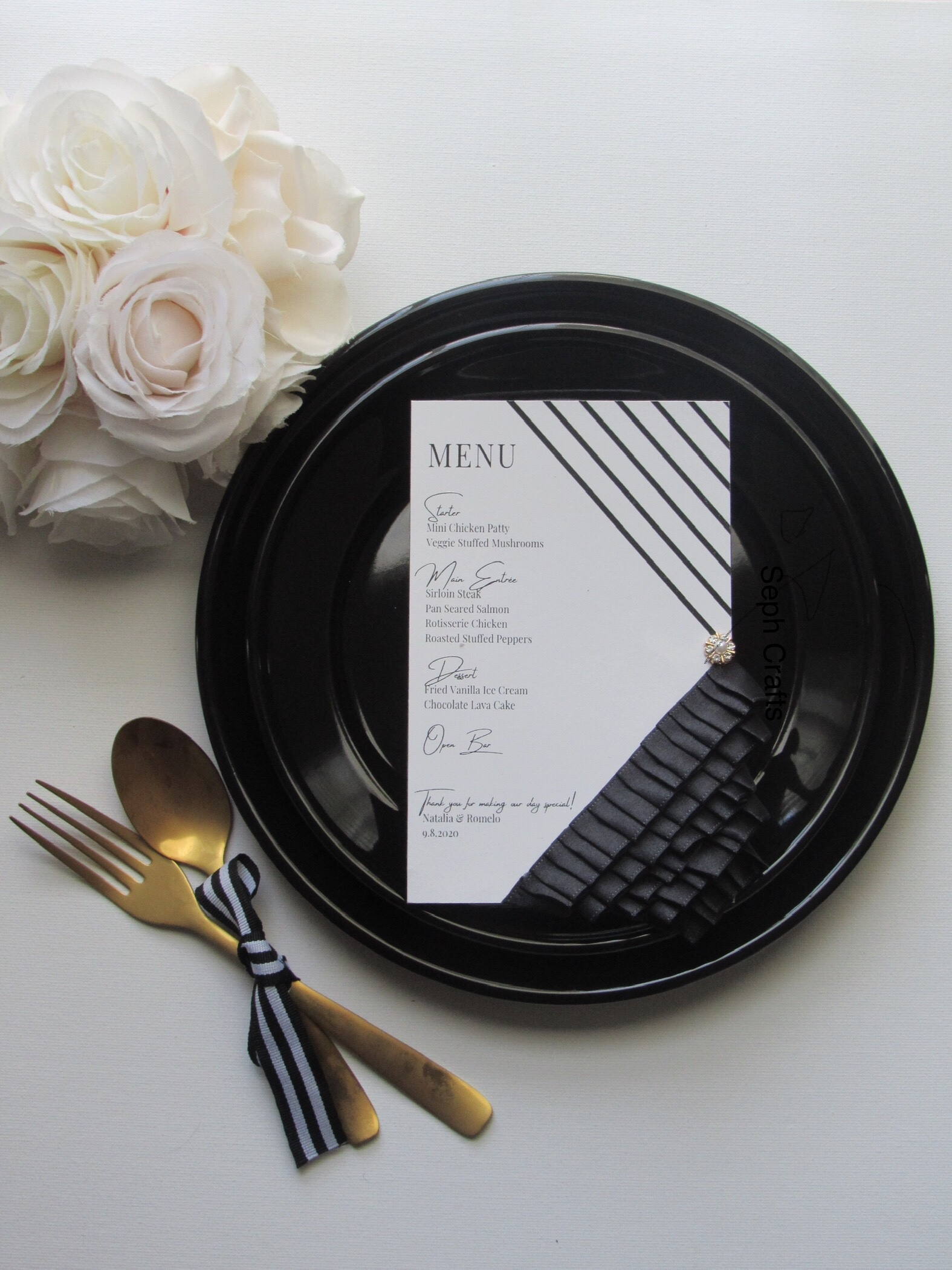 Ruffled Menu Cards