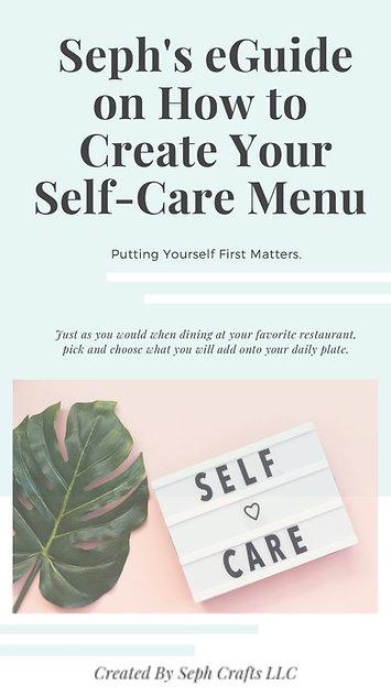 Seph Crafts Self Care Menu eGuide
