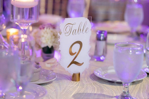 Hand Painted Table Number