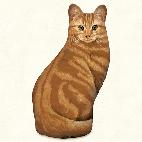 Orange Tabby Door Stop