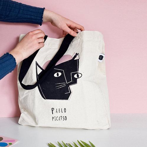 Pablo Picatso Cat Tote Bag