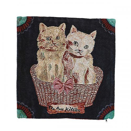 Nathalie Lete Cushion cover Two kitties