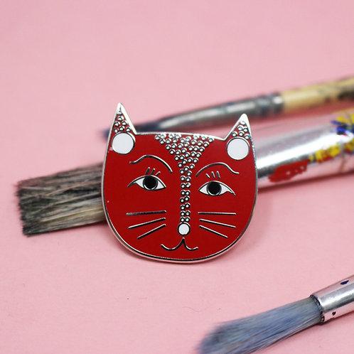 Yayoi Catsama Enamel Pin