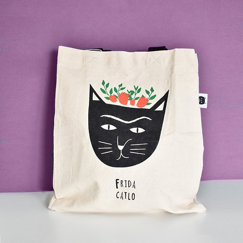 Frida Catlo Cat Tote Bag