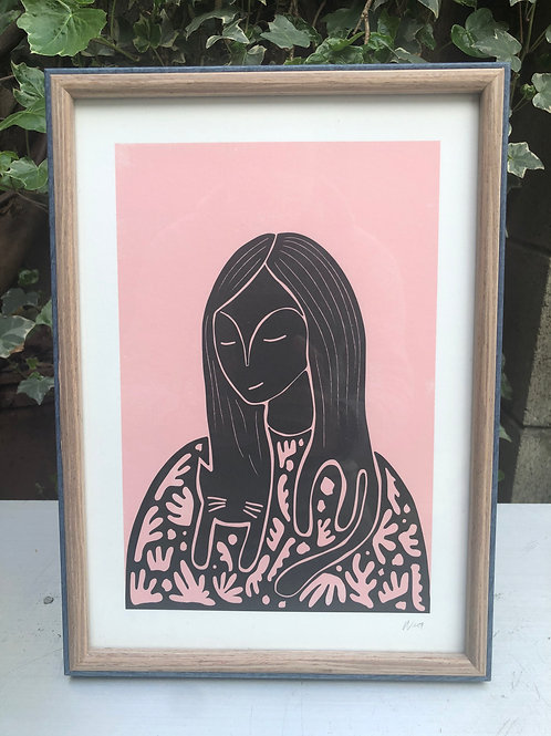Catlady Art Print