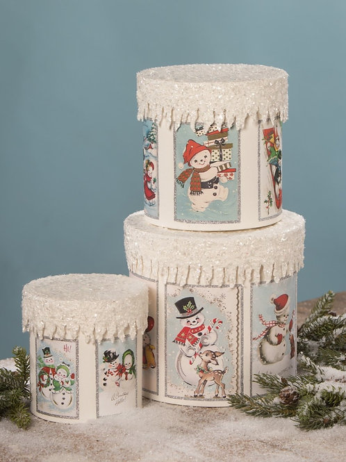 Frosty Snowman Boxes3個セット