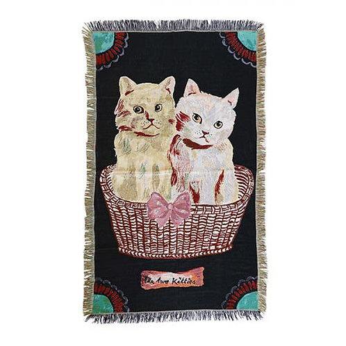 Nathalie Lete Tapestry Rug Two kitties