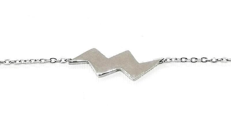 """Bracelet chaîne """"L'Éclair"""" - Argenté"""