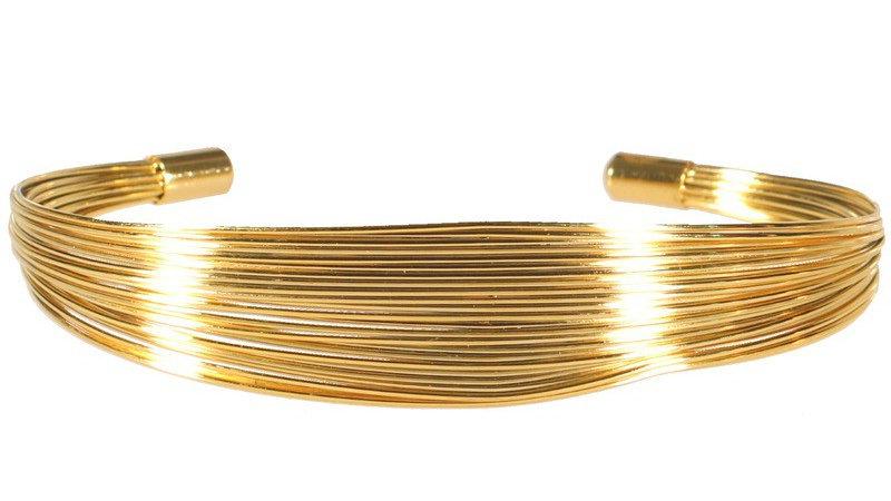 """Bracelet jonc """"Fil mêlé"""" doré"""