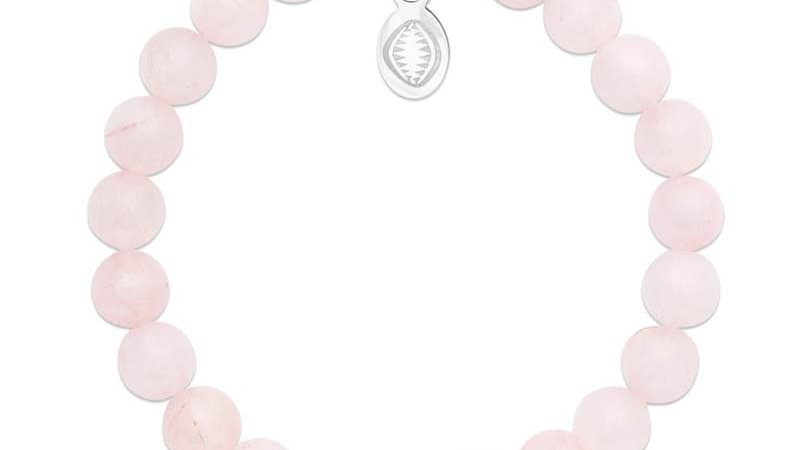 "Bracelet pierre ""Quartz rose"""
