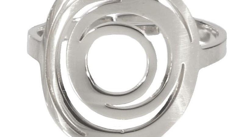 """Bague """"Spirale"""" argenté"""