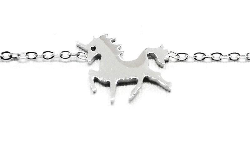 """Bracelet chaîne """"Licorne"""" - Argenté"""
