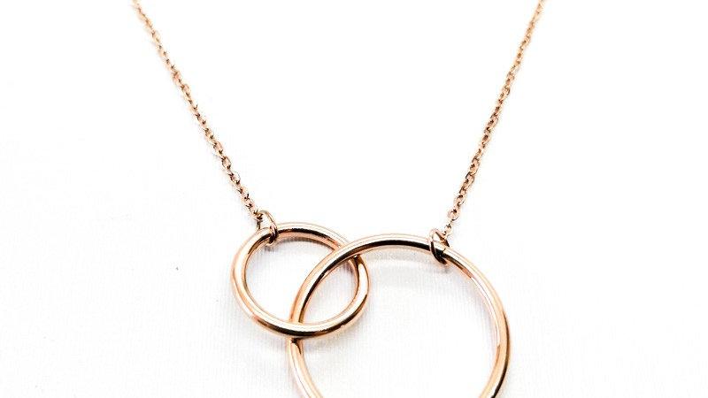 "Collier ""Two Circles"" - Rosé"