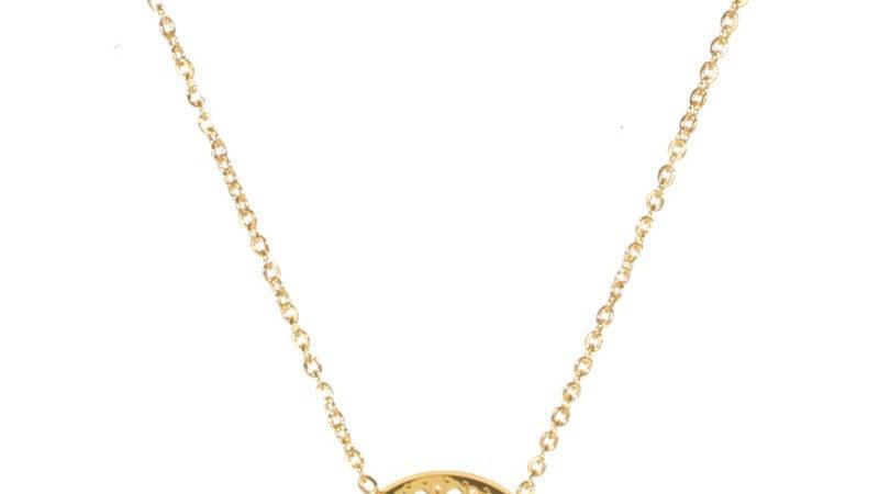Collier avec pendentif ajouré doré